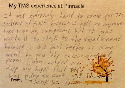 Pinnacle Behavioral Health TMS Patient Testimonial