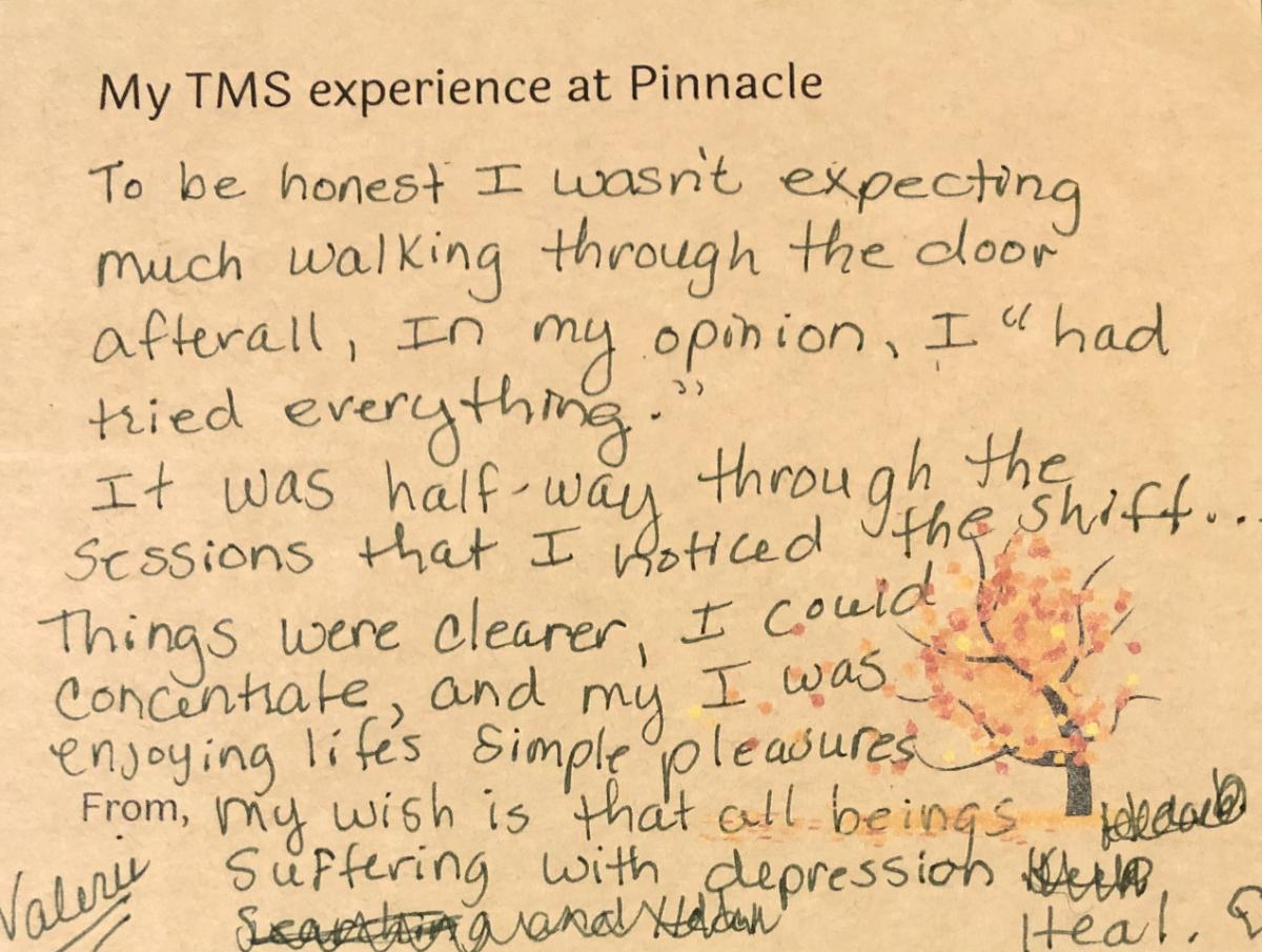 TMS Testimonial from Valerie